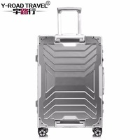 Aluminum Trolley Suitcase Carry on Spinner Wheel Travel Luggage 20/24/29 Rolling Luggage Boarding Case Trolley Hardcase