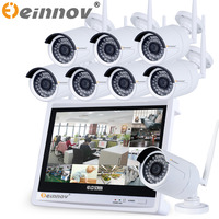 8CH CCTV System Wireless 960P 12 Inch NVR 8PCS 1 3MP IR Outdoor P2P Wifi IP