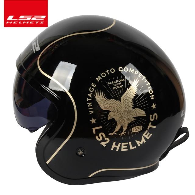 cb8b78c7f Capacetes ls2 OF599 Spitfire moto rcycle capacete jet capacete Aberto rosto  retro Do Vintage 3