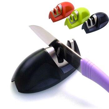 1Pcs Knife Sharpener With Non Slip Handle For Scissors And Knife Sharpener