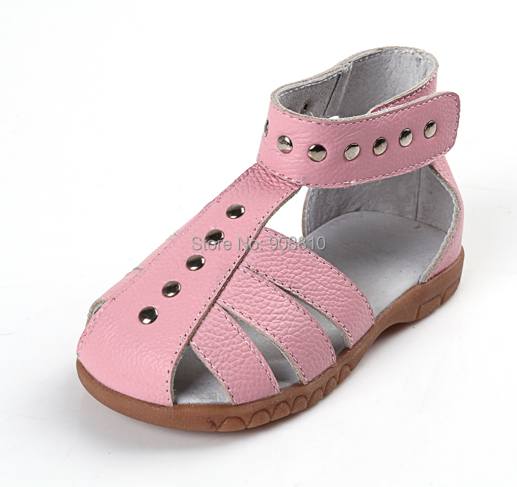 djevojke kožne sandale 100% prave kože toddler cipele srebrne - Dječja obuća - Foto 2