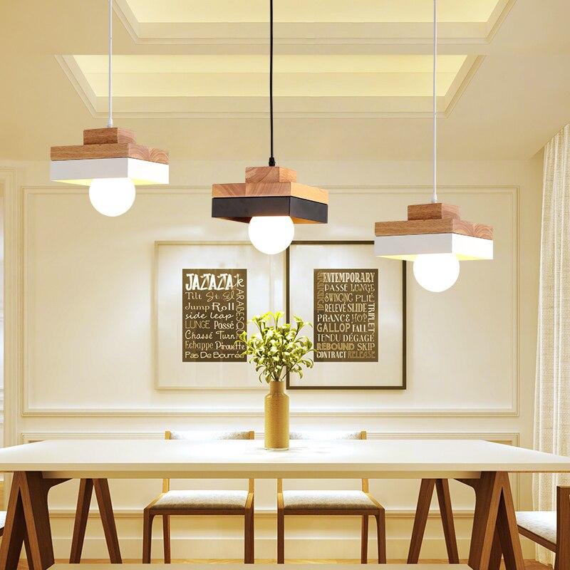 dining-room lamp droplight led droplight dining room light Single-end real wood desk lamp bedroom lamps and lanterns