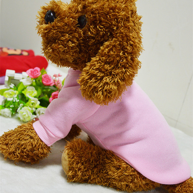 Winter Pet Dog Clothes Puppy Coats Dog Hoodies Soft Cat Pajamas Puppy Vest Warm Dog Clothing Chihuahua Yorkie Clothes 9CY25
