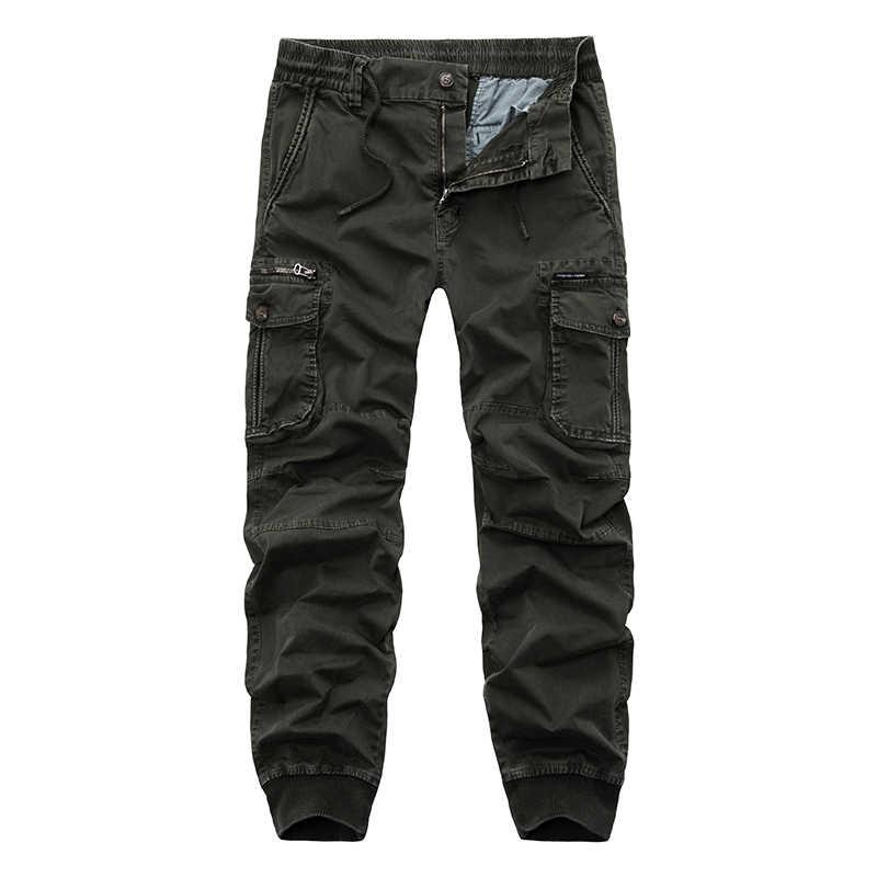 Cargo spodnie mężczyźni na co dzień biegaczy mężczyzna spodnie typu Casual oddychające spodnie męskie spodnie wojskowe spodnie bawełniane męskie taktyczne spodnie w stylu Cargo