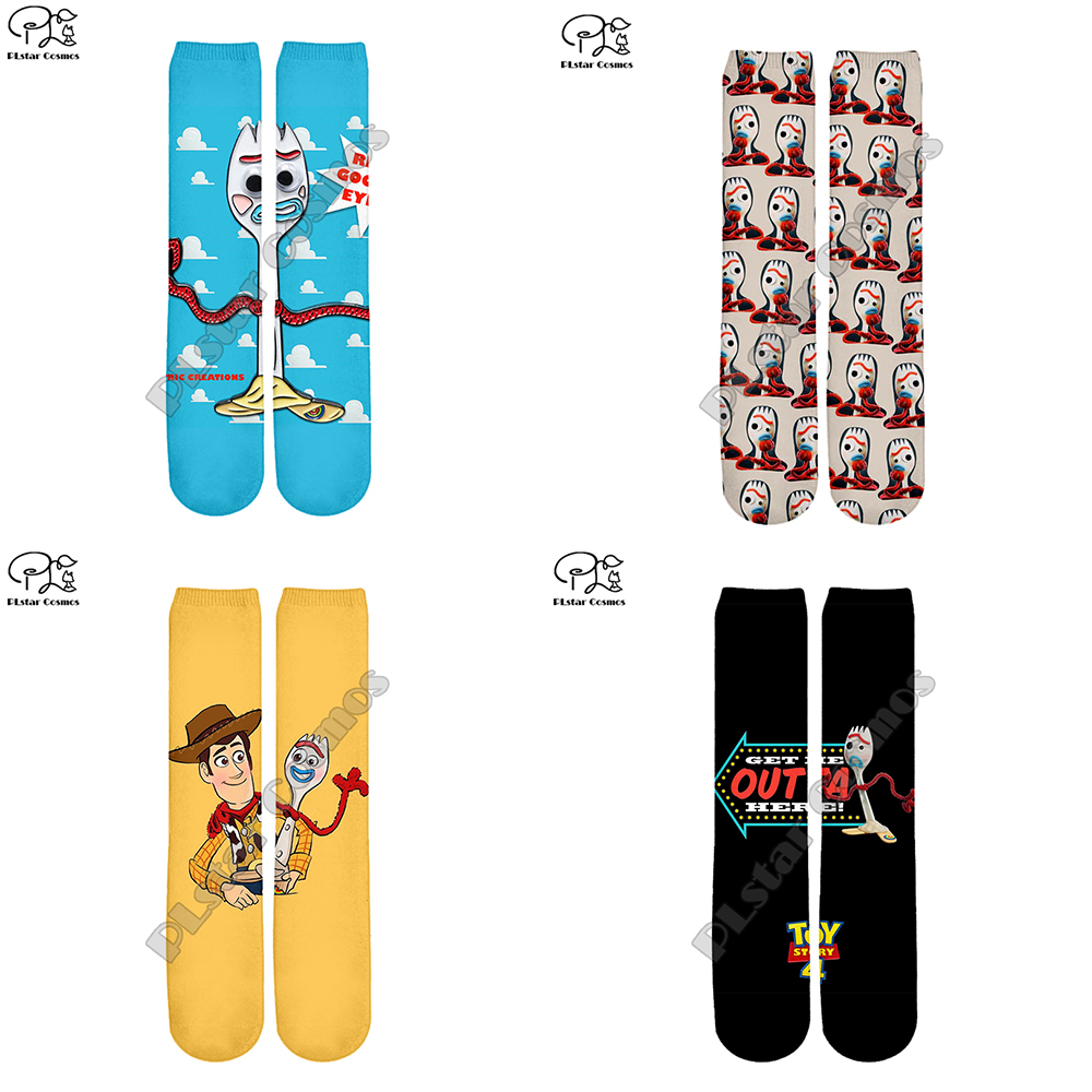 New Toy Story 3D Impressão forky crew Socks Mulheres/homens Meias woody Buzz Lightyear Dos Desenhos Animados harajuku anime longas Meias para os adolescentes criança