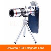 Uniwersalny Obiektyw 18X Zoom Optyczny Teleskop Teleobiektyw Obiektyw Obiektywy Kamer Telefonu dla iPhone 7 5 6 S Oraz Telefon komórkowy ze Statywem klip