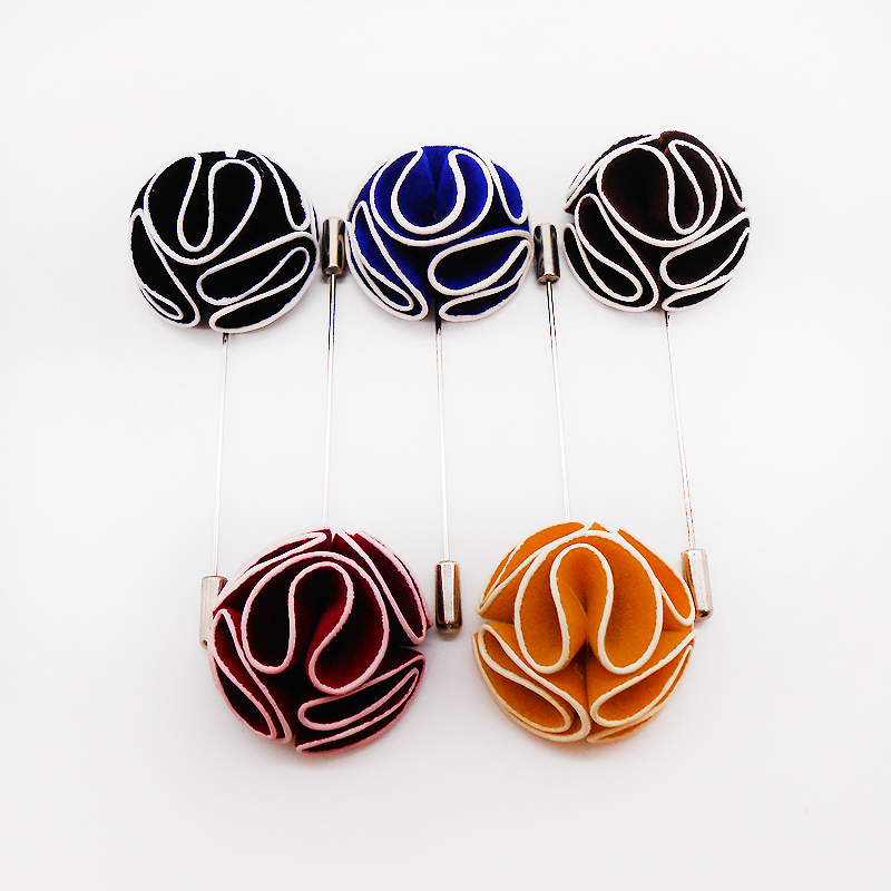 Handmade Fabric Hijab Pins Muslim Wedding Brooches Brooch 5PCS Flower Brooches For Women Safety Scarf Pins Hijab Pin Mixed Color