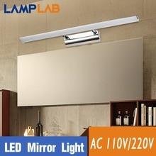 LED Mirror Wall Lamp Waterproof Stainless Steel Sconce 110V 220V Makeup Vanity Fixture Light