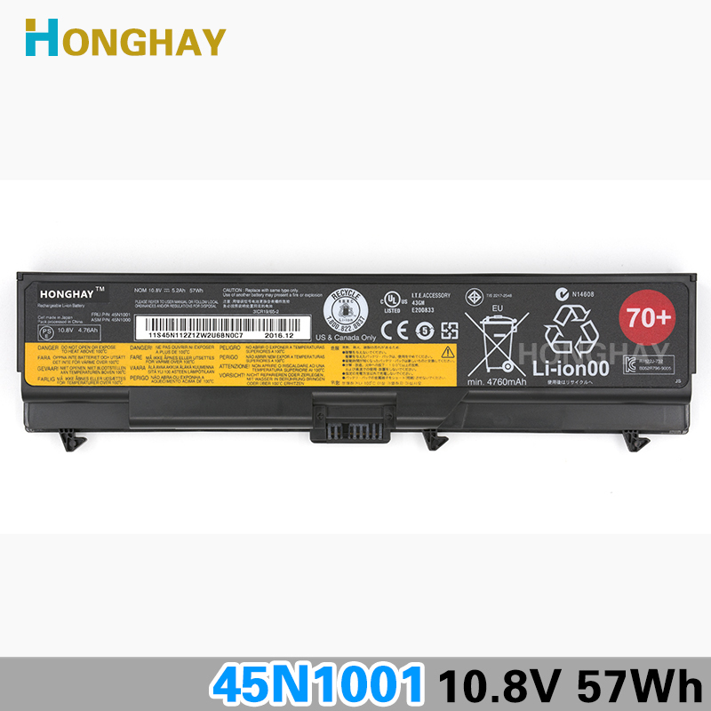 Nouveau Original 70 + batterie d'ordinateur portable pour LENOVO ThinkPad T430 T430i T530 T530i L430 L530 W530 45n1000 E40 E420 SL410 SL510 T410 L520