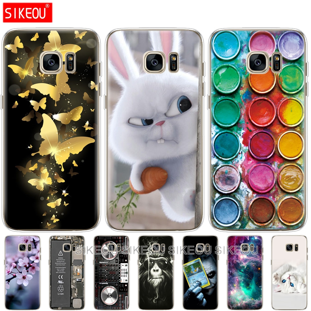 For Samsung Galaxy S7 egde case Cover for Samsung Galaxy S5 S6 edge Case for Samsung S7 S6 G920F S5 i9600 Cover Silicon Fundas(China)