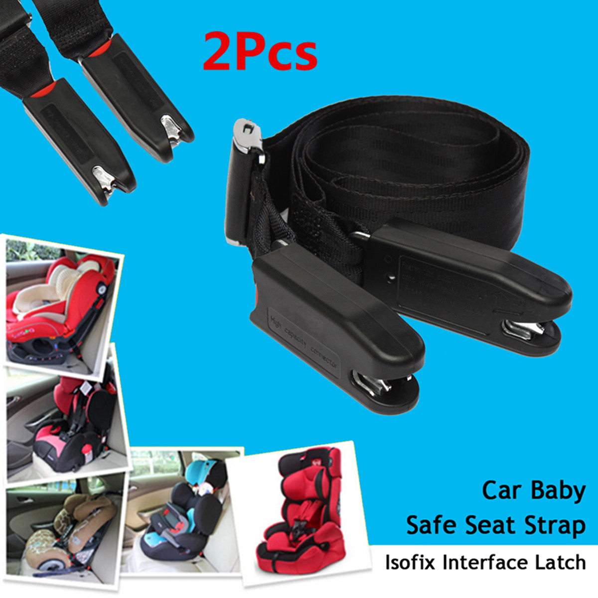 1PC Safe Baby Car Child Toddler Seat Safety Belt Clip Strap Fixed Lock Buckle UK