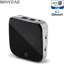 Binyeae Bluetooth 4.1 Aptx low latency CSR8670 Music Transmitter Receiver mini A2DP Wireless home stereo audio TV Adapter