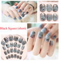 Newest marble Design Fake Nails French Artificial Nails Top Quality Etagere Faux Ongles for Nail Display 24pcs/Set Free Glue