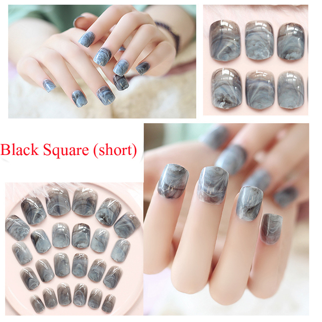 Newest marble design fake nails french artificial nails top newest marble design fake nails french artificial nails top quality etagere faux ongles for nail display prinsesfo Images