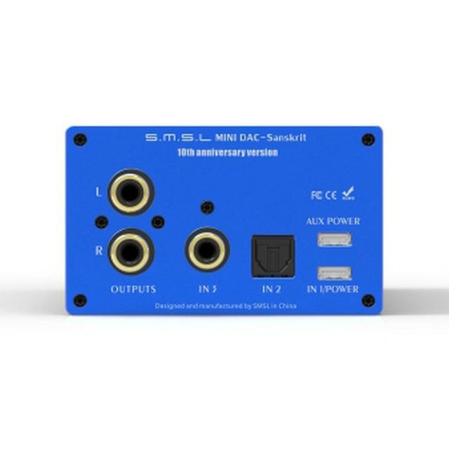 SMSL Sanskrit 10th SK10 Hifi Digital Decoder AK4490 PCM384 DSD256 DAC Pre-out Accelerometer Support OTG with Remote Control 3