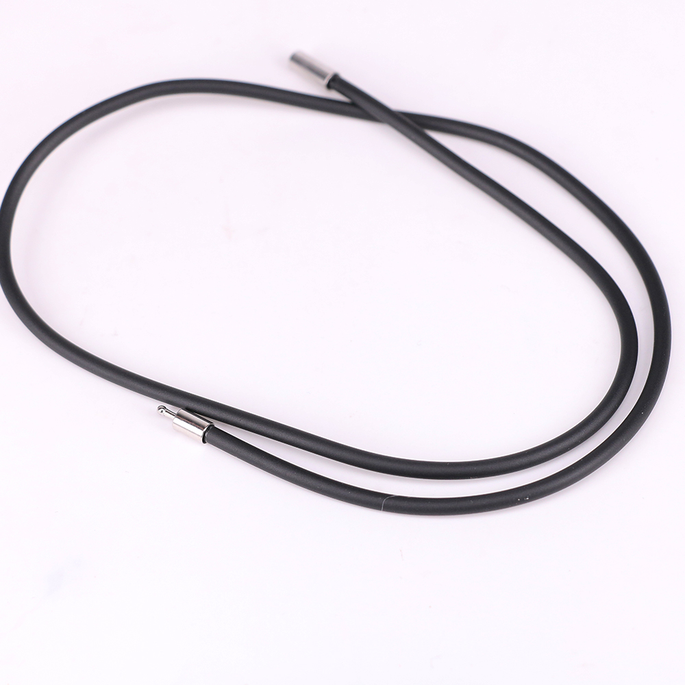 3mm Rubber Cord Choker Necklace Chain Silver Clasp Unisex Jewelry DIY Gift