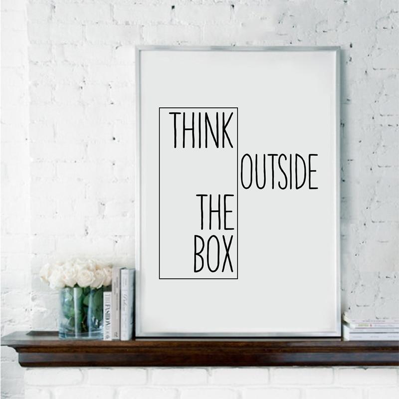 Motivational Print Creative Decor Think Outside The Box ...