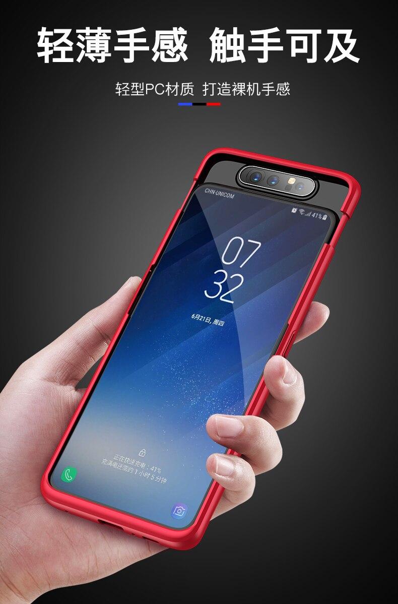 HTB1MbMKXL1G3KVjSZFkq6yK4XXaR For Samsung Galaxy A80 Case Hard Hybrid PC 360 Full Body Protective Back Cover for Samsung Galaxy A80 Phone Case Fundas Coque