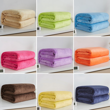 Home textile autumn and winter flannel wool blanket warm soft coral fleece  blanket bedding adult solid 9af4f48d6