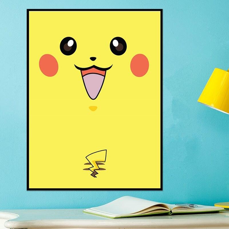 Azqsd japanese anime art print poster game poke monster for Animal room decoration games