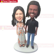Personalized Wedding Cake Topper Custom Bobble Head Gifts Decoration Unique Wedd