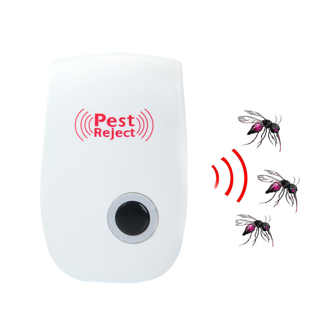 Mosquito Killer Electronic Multi-Purpose Ultrasonic Pest Repeller Reject Rat Mouse Repel ...