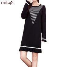 95452a0e167 Fdfklak décontracté femmes robe tricot laine pull robe femme automne hiver  à manches longues robes de