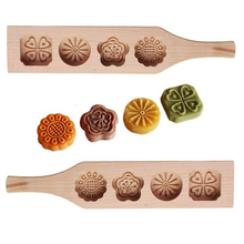 Practical Beech Baking Tool Cake Chocolate Biscuit Mold Moon Wooden Tools for Cakes