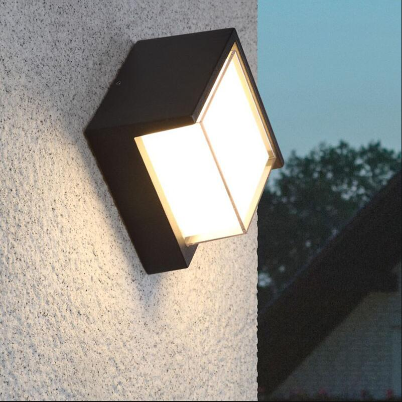 10W Waterproof LED Wall Light Outdoor Surface Wall Mouted Led Sconce Light Aluminum Wall Lamp for