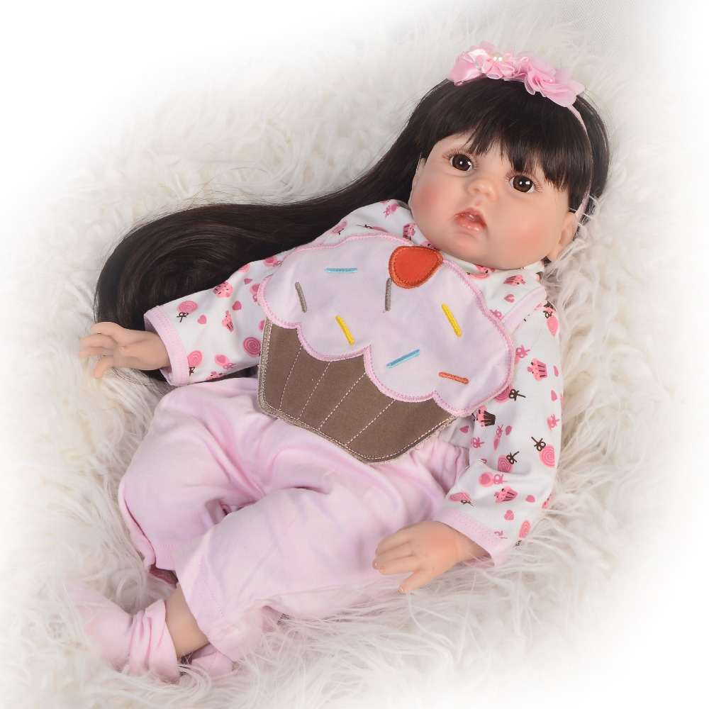 New Design 22 '' Reborn Baby Dolls Newborn Princess Toy Realistic Reborn Boneca Menina 55 cm Toddler For kids Christmas Gifts цена