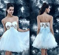 Sexy Sweetheart Backless Tulle Fashion Luxury White Dresses Short Cocktail Party Dresses