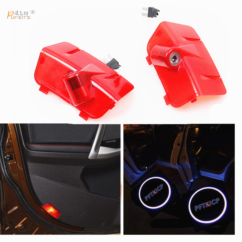 2x LED Car Door Courtesy Laser Projector Logo Ghost Shadow Light For new Chery Tiggo 5 2014 car LED logo sticker for skoda octavia led 3w welcome car door logo lights projector laser ghost 3d shadow accessories original door light replace