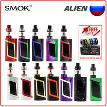 (RU) Vape Smok Alien Kit with 3ml TFV8 Baby Tank and Alien 220W Box Mod Vape Kit 18650 battery not included Electronic Cigarette(China)