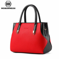 Brand Fashion Women Leather Shoulder Bag Ladies Messenger Cross Body Bag 2016 Luxury Handbags Women Bags