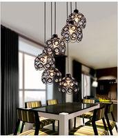 Modern Iron Pendant Light Crystal Lamp Dining Room Sitting Room House Lighting Suspension Lights