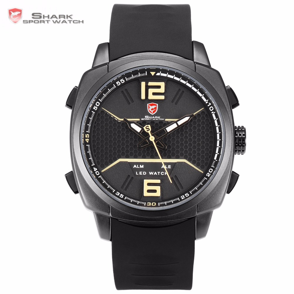 New Luxury Whitetip Reef Shark Sport Watch Men Watches LED Khaki Analog Calendar Alarm Waterproof Silicon Band Wristwatch /SH487New Luxury Whitetip Reef Shark Sport Watch Men Watches LED Khaki Analog Calendar Alarm Waterproof Silicon Band Wristwatch /SH487