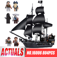 804pcs LEPIN 16006 Pirates Of The Caribbean The Black Pearl Building Blocks Set 4184 Lovely Educational