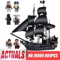 LEPIN 16006 804 pz Pirati dei caraibi Black Pearl Modello di Nave Morti Builidng Blocchi di Mattoni Bambini giocattoli Regali LegoINGys 4184