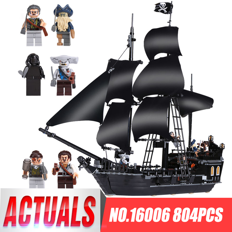 LEPIN 16006 804pcs Pirates of the Caribbean Black Pearl Dead Ship Model Builidng Blocks Brick Children toys Gifts LegoINGys 4184 kazi 1184pcs pirates of the caribbean black general black pearl ship model building blocks toys compatible with lepin