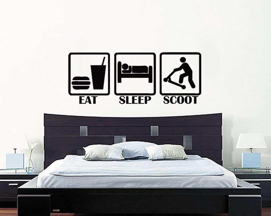 plus size eat sleep scoot kids children 39 s bedroom scooter. Black Bedroom Furniture Sets. Home Design Ideas