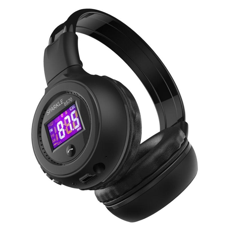 bilder für Zealot B570 Drahtlose Bluetooth Kopfhörer Stereo Headset LCD Bewegliche Faltbare Kopfhörer mp3 FM SD Einbauschlitz mit MIC hand-freies