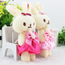 Free Shipping Lovely Pearl Bow Cartoon Rabbit Plush Toy Animal Doll Wedding Gift Kids Birthday Present