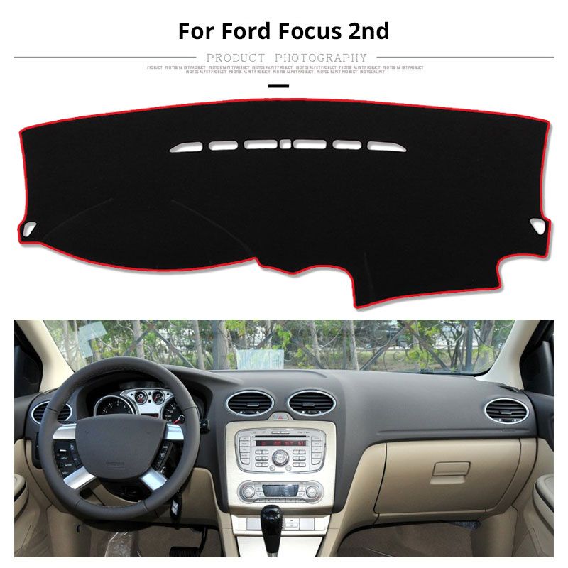 Image 3 - For LHD Ford Focus 2 3 2017 2016 2015 2014 2013 2012 2011 2010 2009 Car Dashboard Cover Mat Protect Pad Cover Car Accessories-in Gauge Trim from Automobiles & Motorcycles
