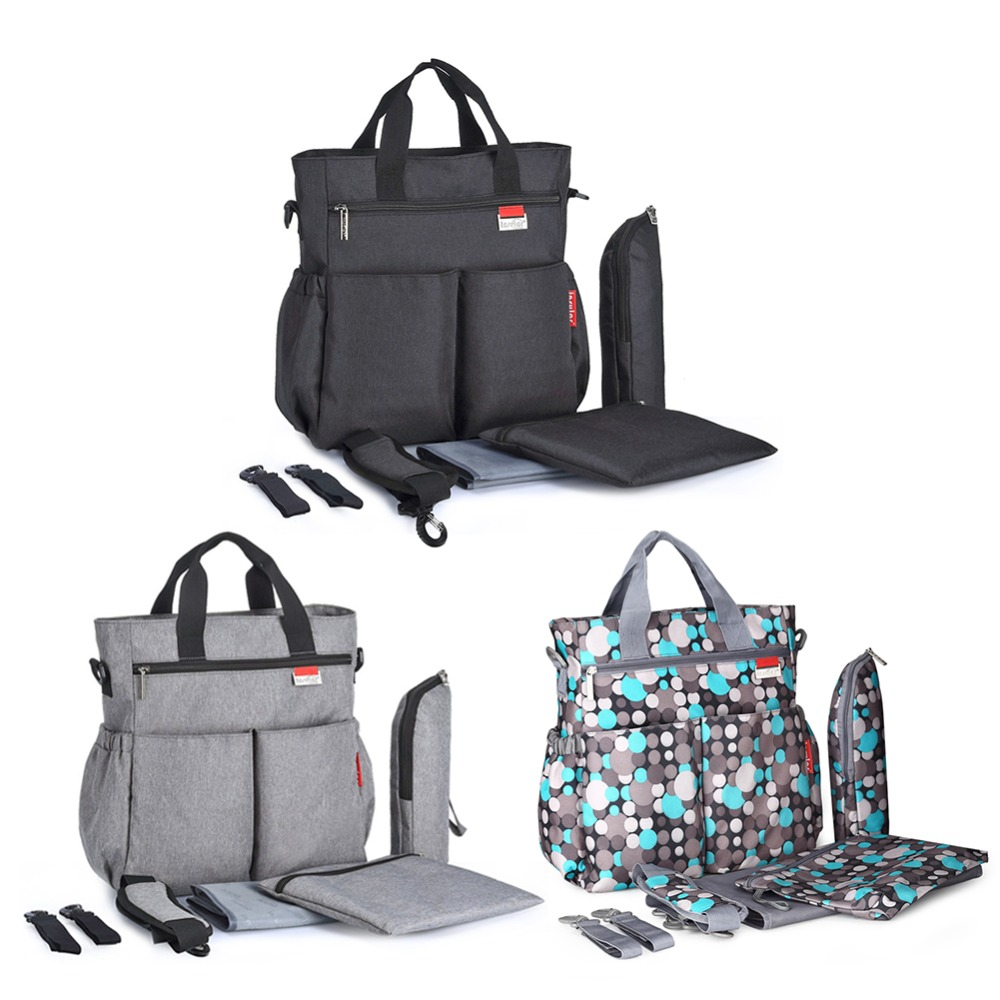 Image 3 - Многофункциональная водонепроницаемая сумка для беременных и для подгузников, большая вместительность, модная сумка для мам, сумки для кормления детей, сумка на колесиках-in Сумки для подгузников from Мать и ребенок