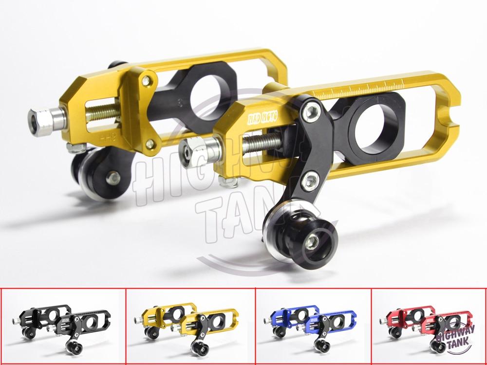 4 цвета алюминия с ЧПУ мотоцикл цепи Регулятор Чехол для Кавасаки ZX-10r с 2008-2010 регулировки цепи