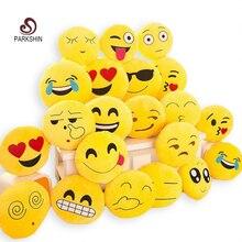 ParkShin Lindo Emoji Cojín Casa Sonriente Cara Almohada de Peluche de Juguete de Felpa Suave 32 cm x 32 cm