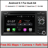 2 Din 7 1024x600 RAM 2GB Quad Core Android 4.4 Car DVD GPS For Audi A4 S4 2002 2008 Seat Exeo 2009 2012 Stereo Radio WIFI OBD2
