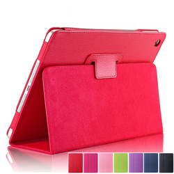 Flip Litchi PU Leather Case For ipad 2 3 4 Case Auto Sleep /Wake Up Tablets Cover For ipad 4 Smart Stand Holder Folio Cases