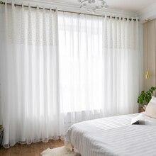 Chicity белые плотные шторы s для гостиная двойной слои Дейзи Элегантный белый кружевные занавески спальня для женщин индивидуальные