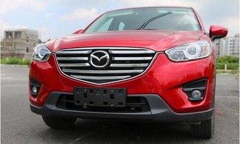 Из нержавеющей стали спереди до сетки гриль решеткой 9 шт./компл. пригодный для Mazda CX-5 CX5 2015 2016